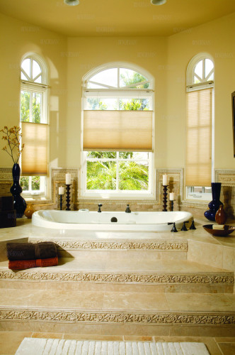 Another style of Norman window shades offered by Sundown Window Tinting, Blinds and More