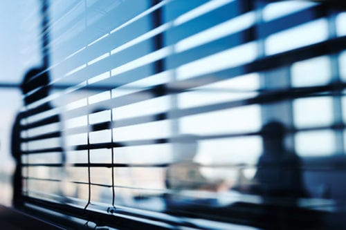 blinds are an excellent choice for office window coverings